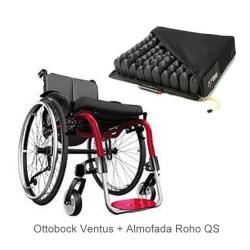 Cadeira de rodas monobloco Ventus Ottobock + Almofada Roho