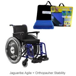 Cadeira de rodas Agile Jaguaribe + Almofada Stability