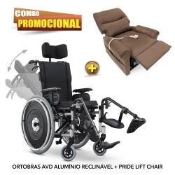 Cadeira de rodas reclinável AVD Reclinável Ortobras + POLTRONA PRIDE LIFT CHAIR